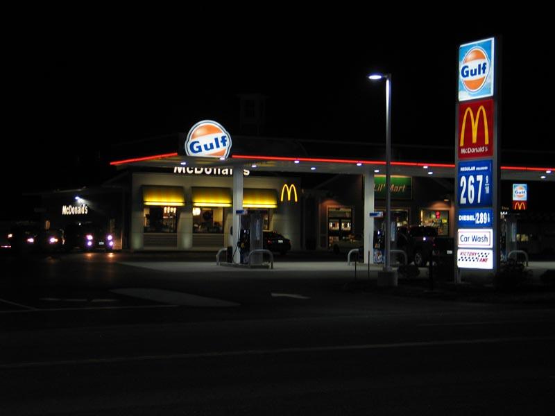 Minot Avenue at night